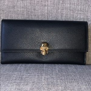 Alexander McQueen Continental Scull Leather Wallet